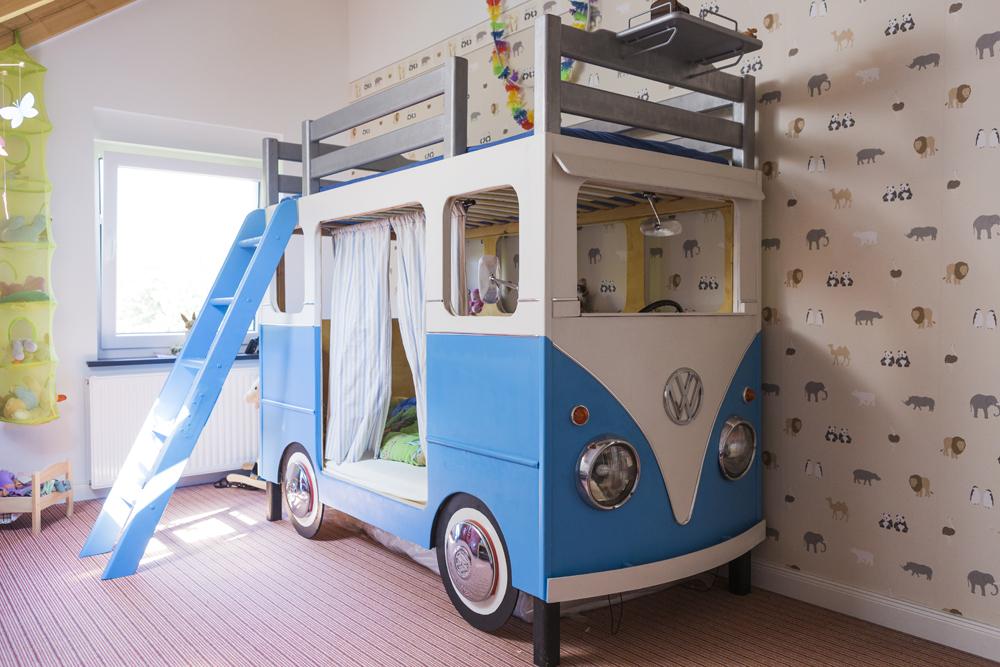 Kinderbett junge bus  Galerie – Das VW Bus Bett – einmalig, kreativ & voller Spielfreude